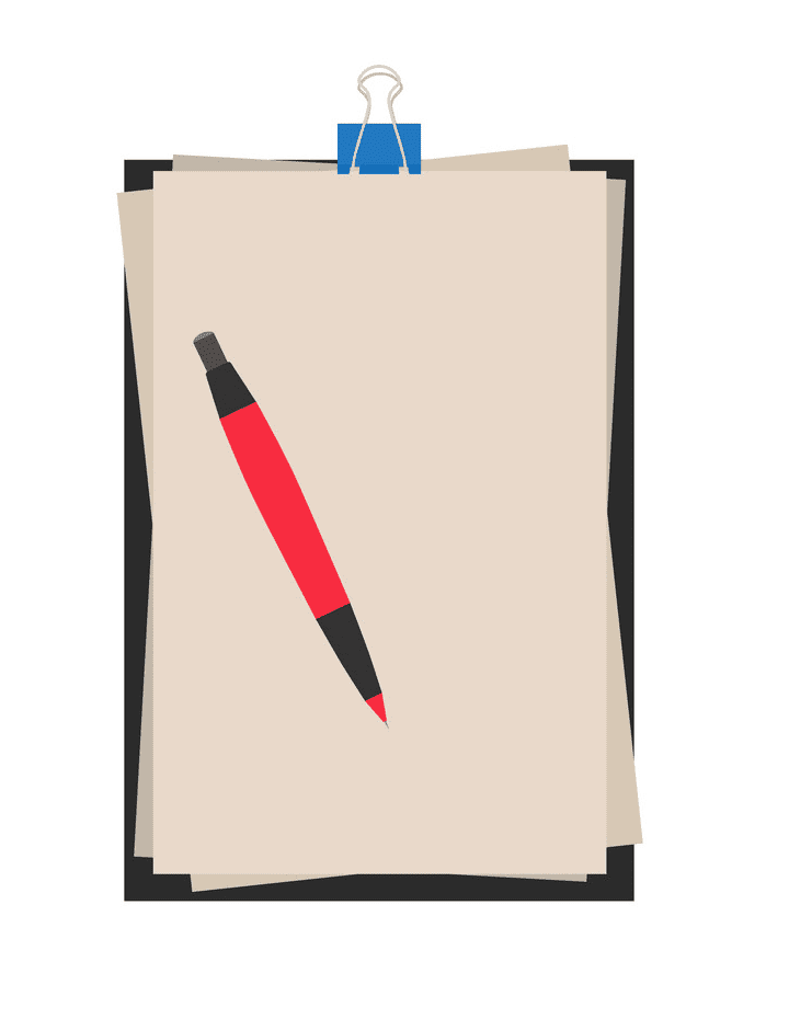 Paper and Pen clipart free image