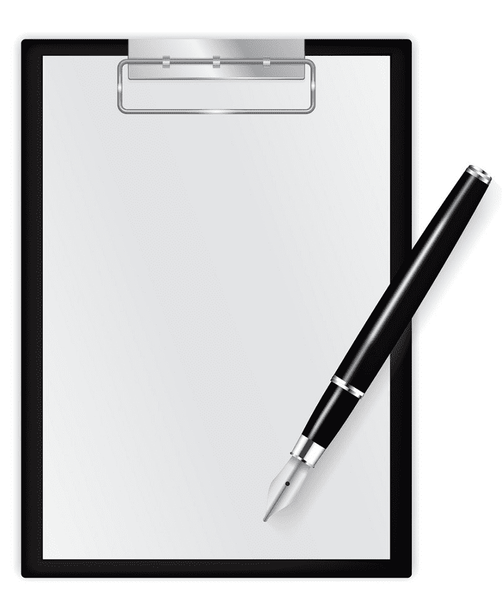 Paper and Pen clipart free picture