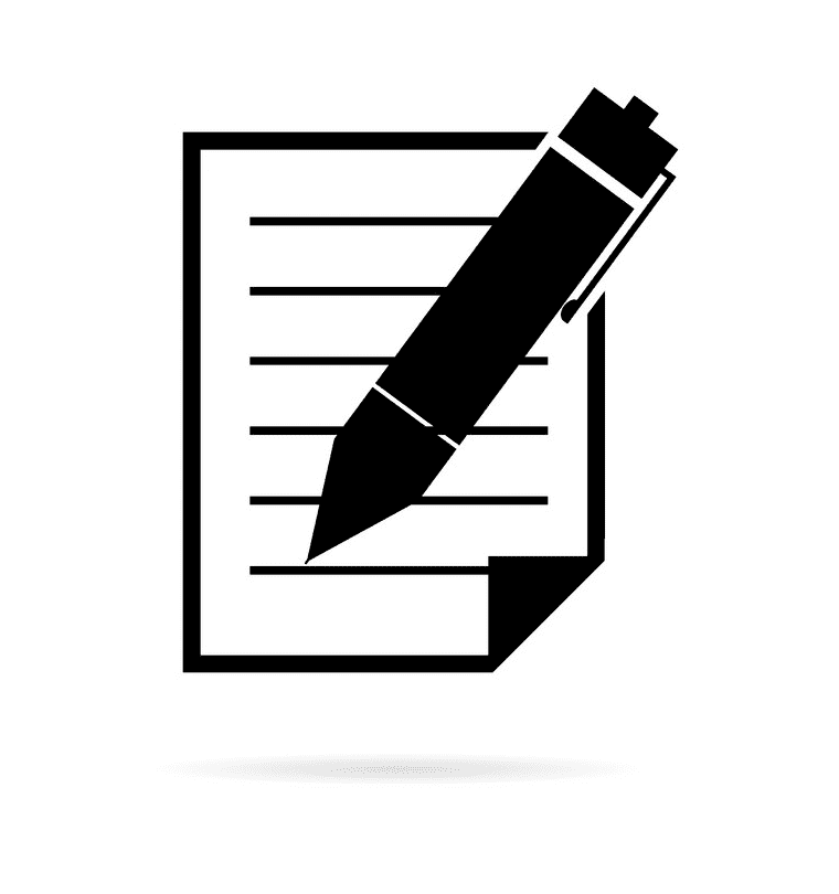Paper and Pen clipart free