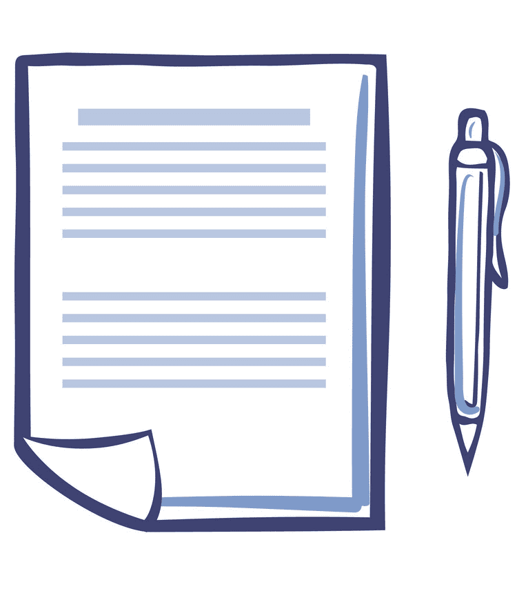 Paper and Pen clipart png image