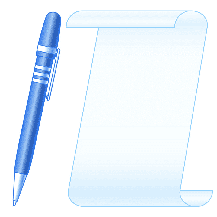 Paper and Pen clipart png images