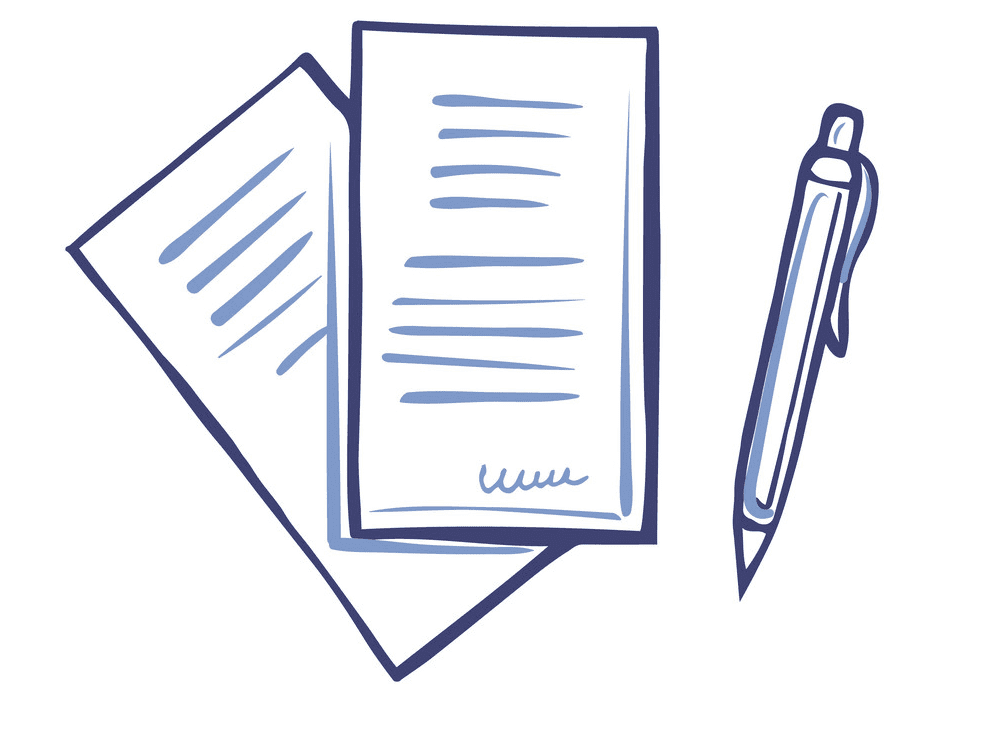 Paper and Pen clipart png picture