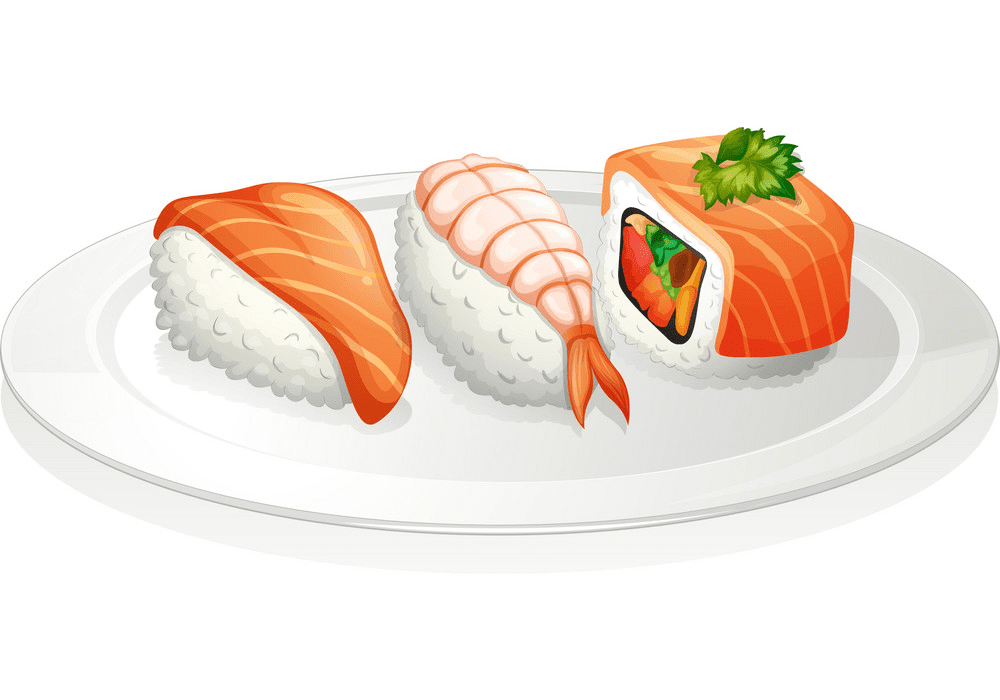 Plate Sushi clipart