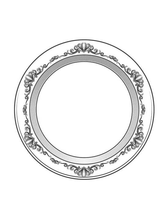 Plate clipart free for kid