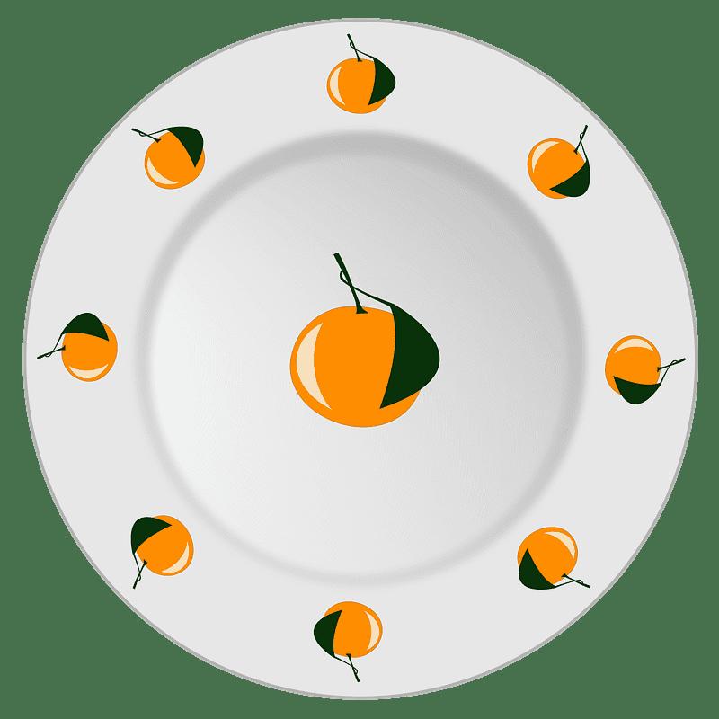 Plate clipart transparent background 11