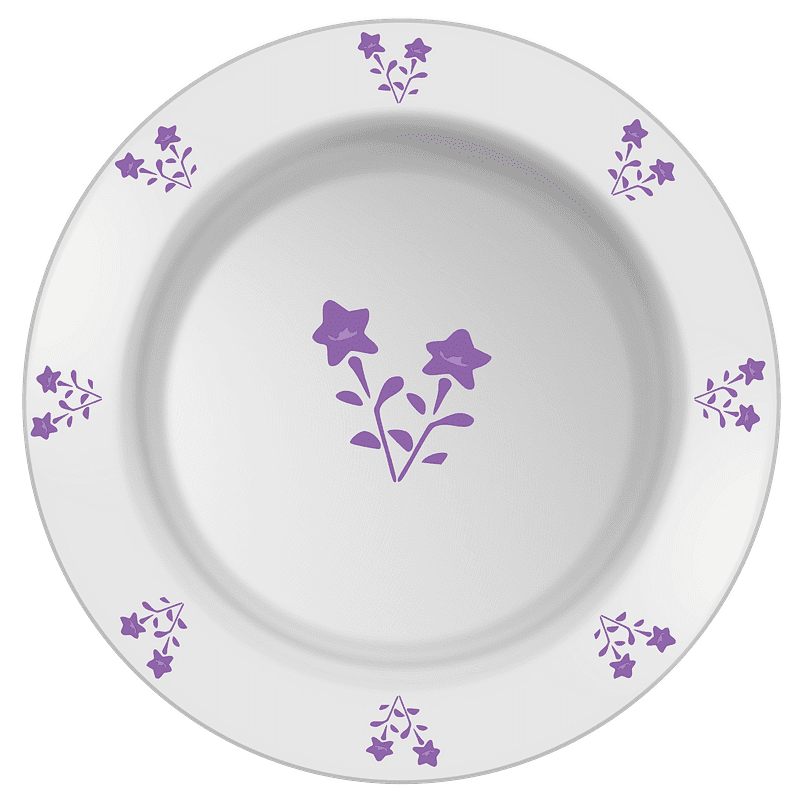 Plate clipart transparent background 12