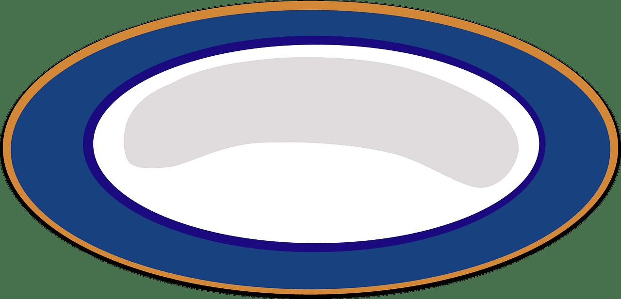 Plate clipart transparent background 3