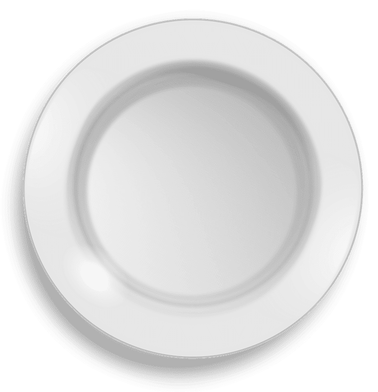Plate clipart transparent background 8