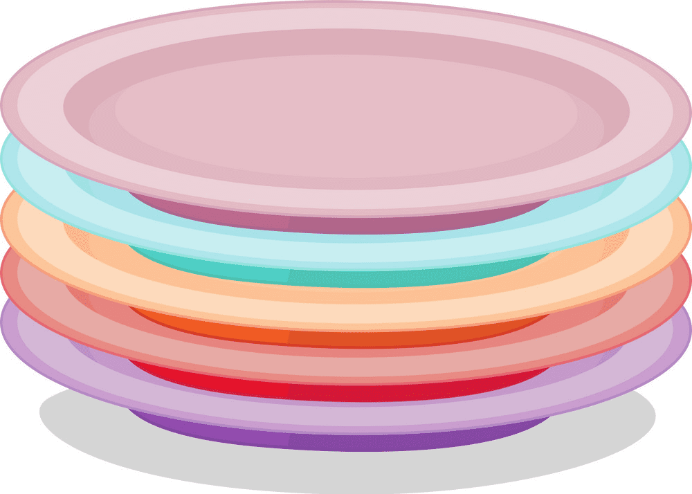 Plates clipart