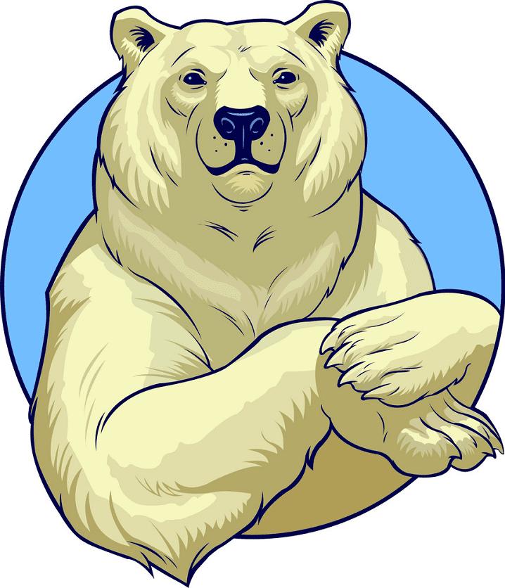 Polar Bear clipart for free