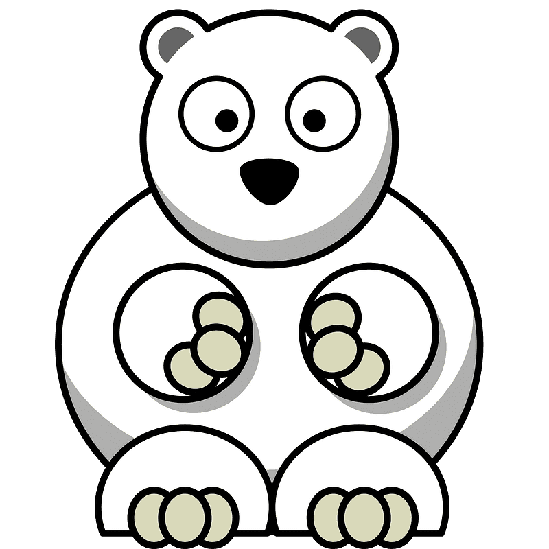 Polar Bear clipart transparent 12
