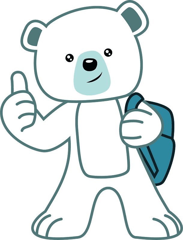 Polar Bear clipart transparent 4