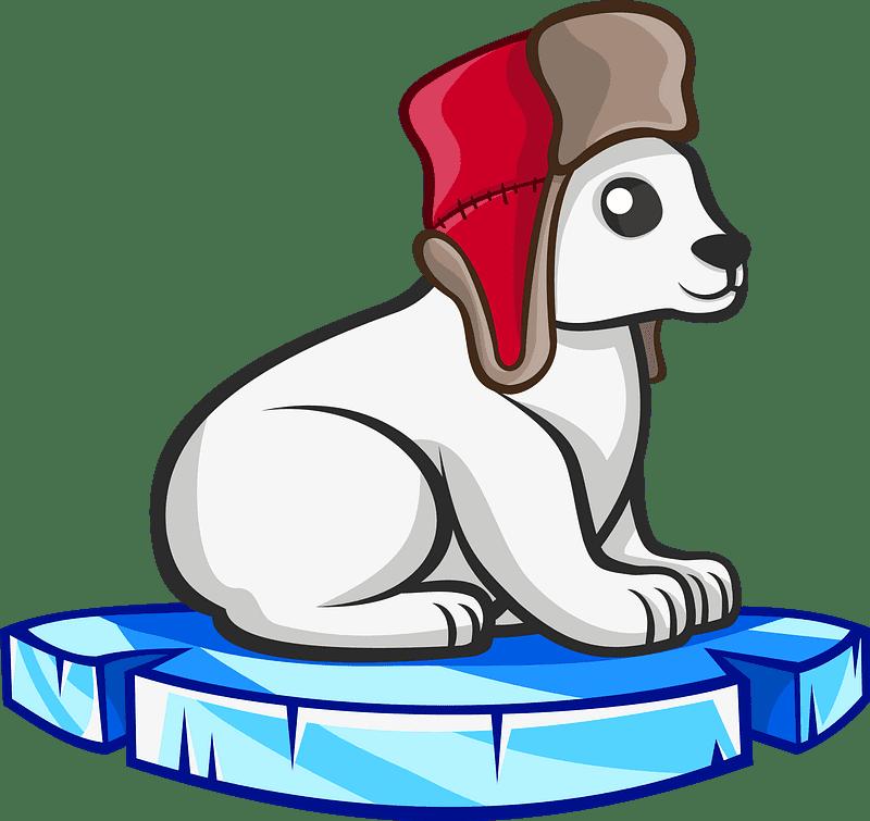 Polar Bear clipart transparent background 1