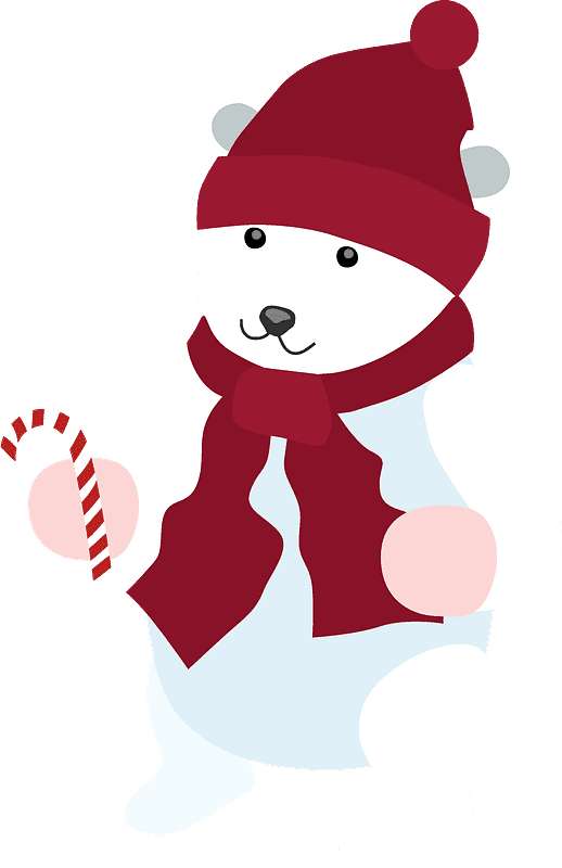 Polar Bear clipart transparent background 11