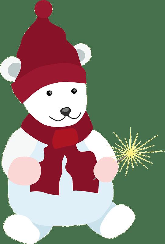 Polar Bear clipart transparent background 12