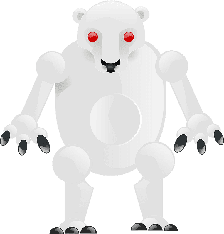 Polar Bear clipart transparent background 7