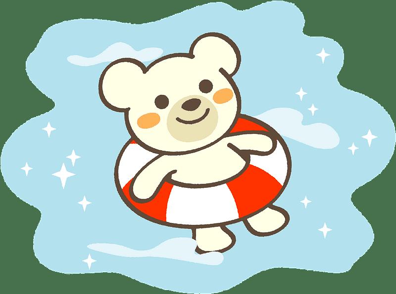 Polar Bear clipart transparent background 8