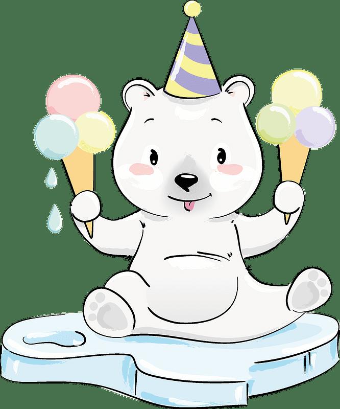 Polar Bear clipart transparent background