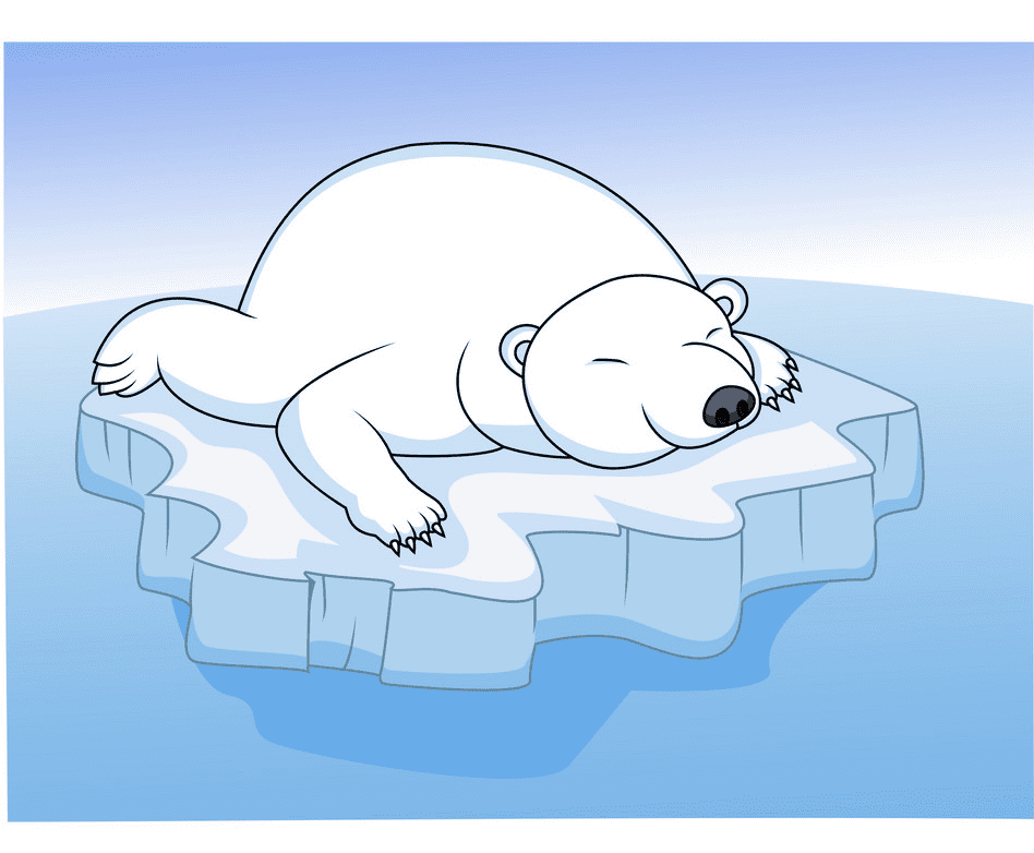 Polar Bear on Ice clipart image