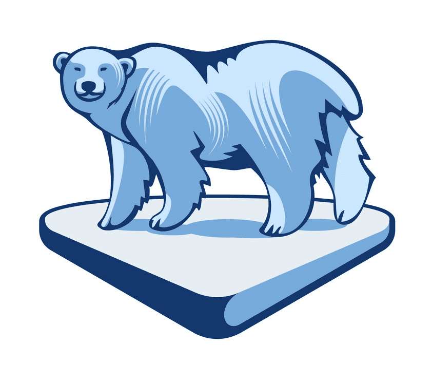 Polar Bear on Ice clipart png free