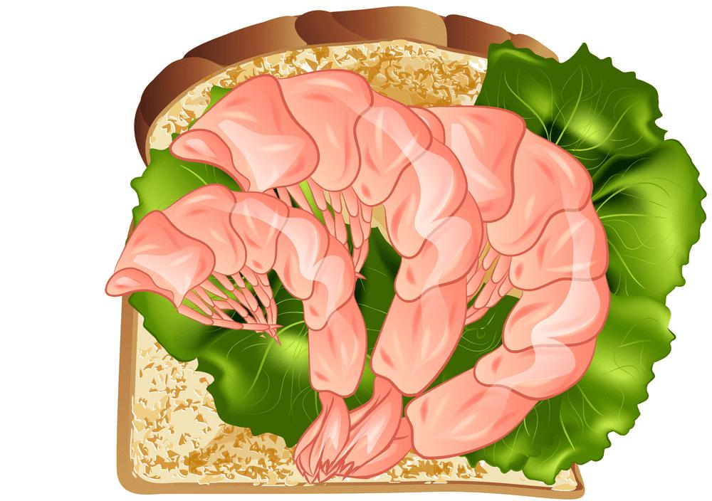 Prawn Sandwich clipart