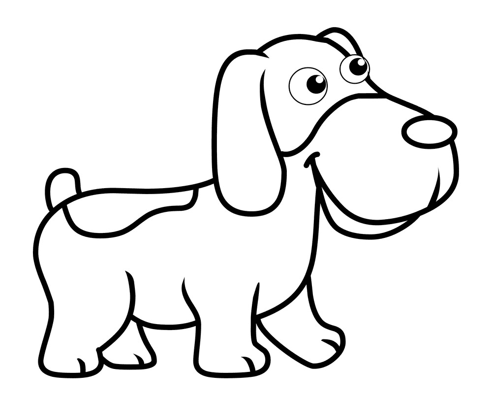 Puppy Clipart Black and White image