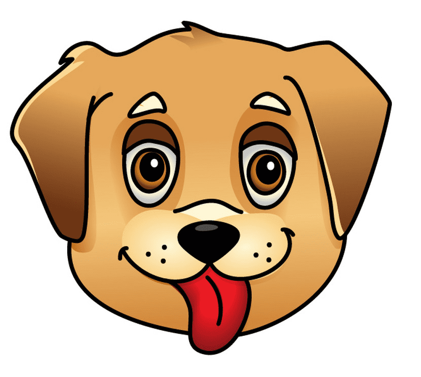 Puppy Face clipart free