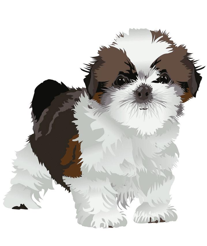 Puppy clipart 9