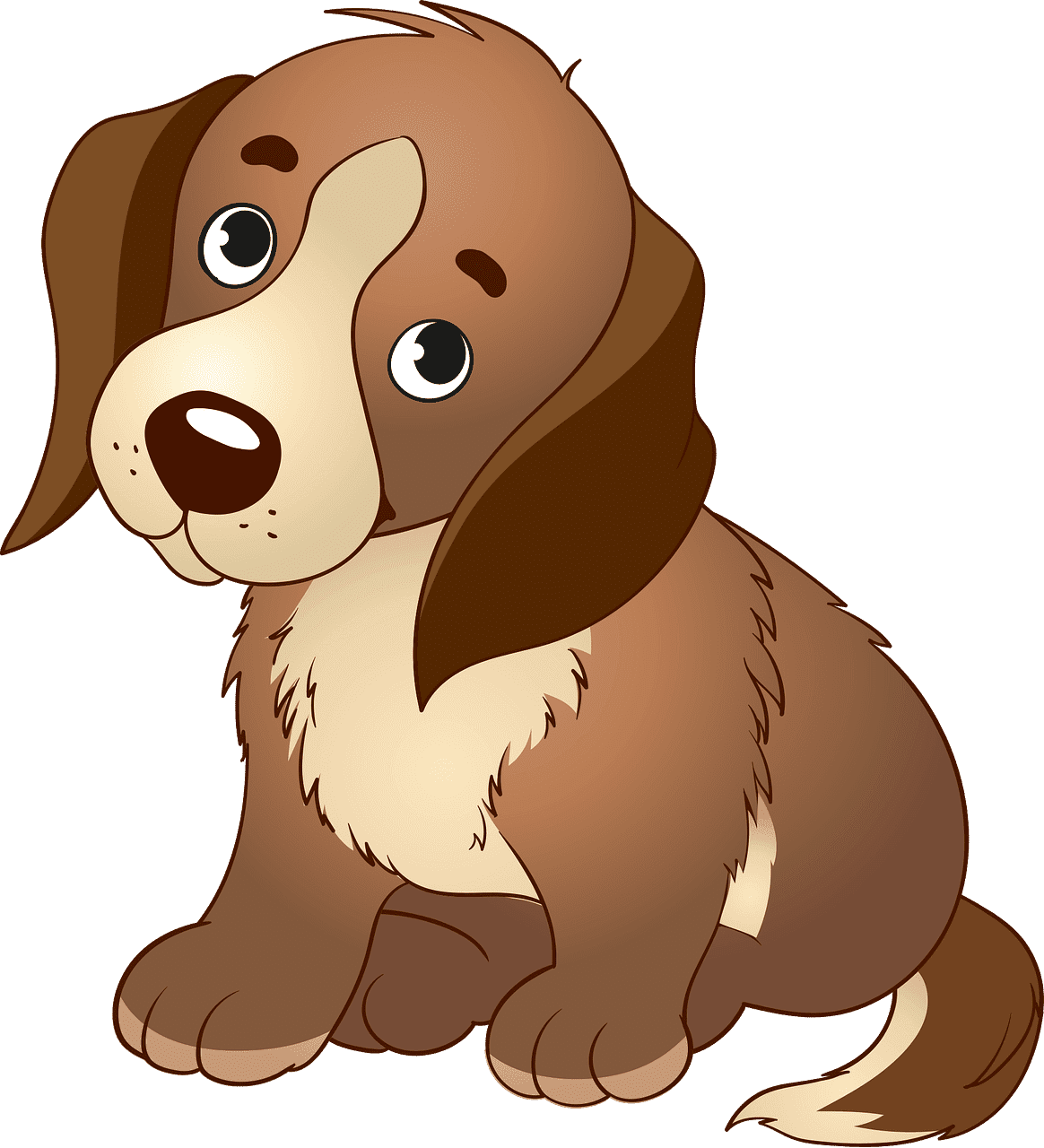 Puppy clipart transparent free