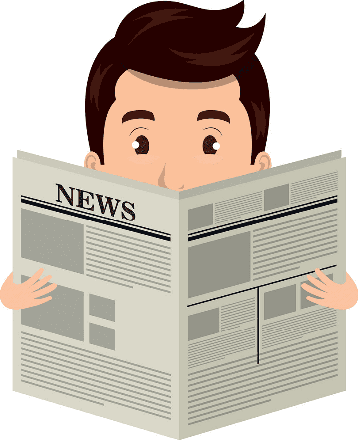 Reading Newspaper clipart for free