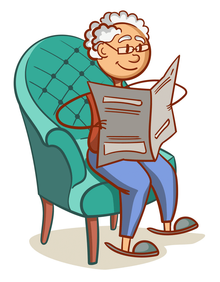 Reading Newspaper clipart for kids