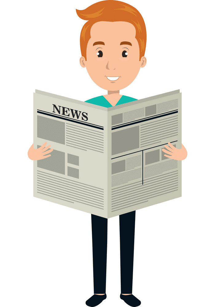 Reading Newspaper clipart image
