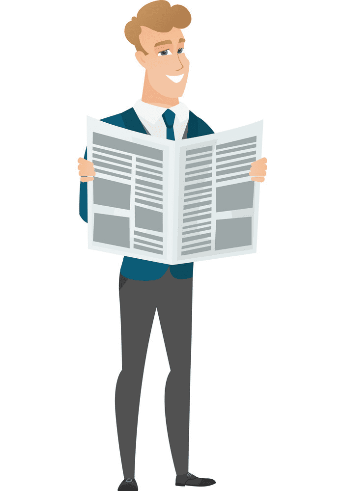 Reading Newspaper clipart images
