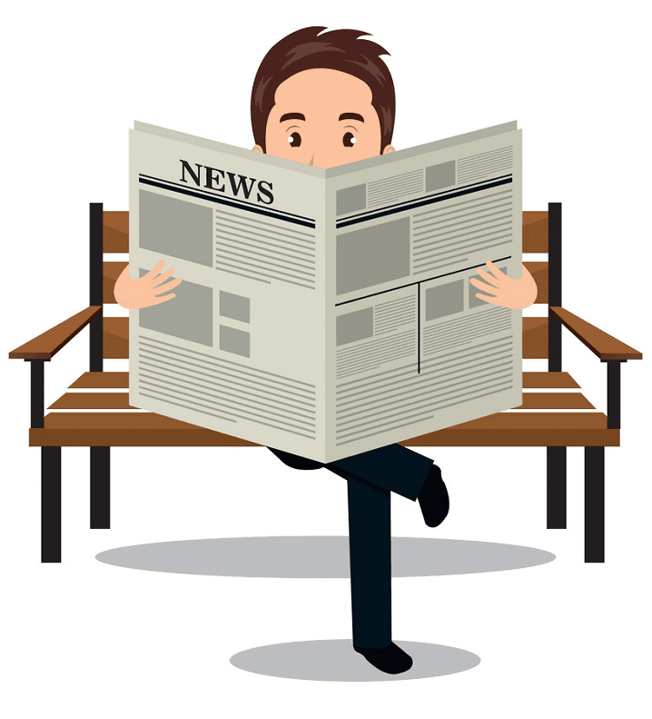 Reading Newspaper clipart png