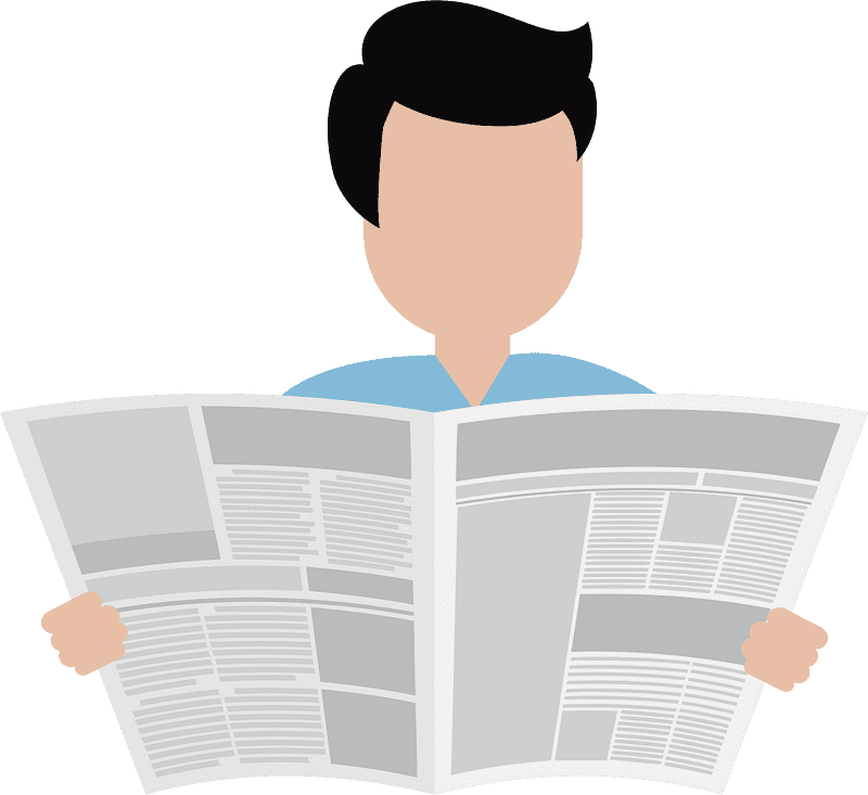 Reading Newspaper clipart transparent 1