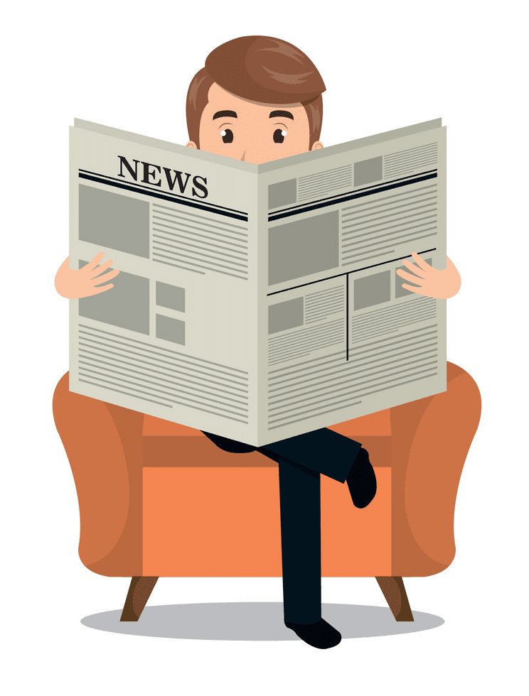 Reading Newspaper clipart