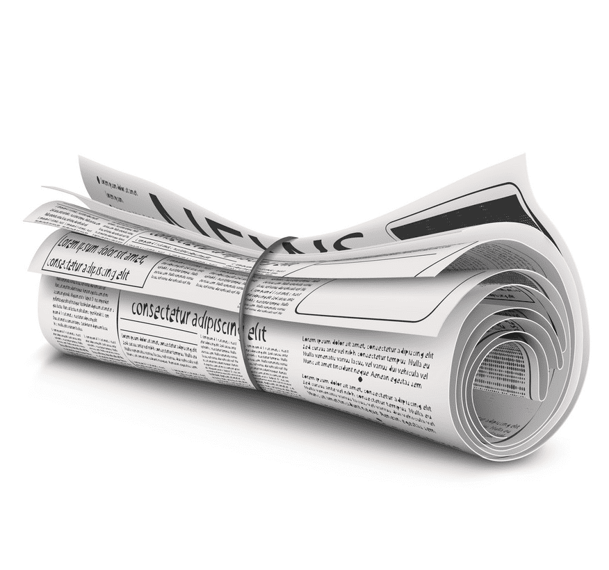 Rolled Newspaper clipart for free