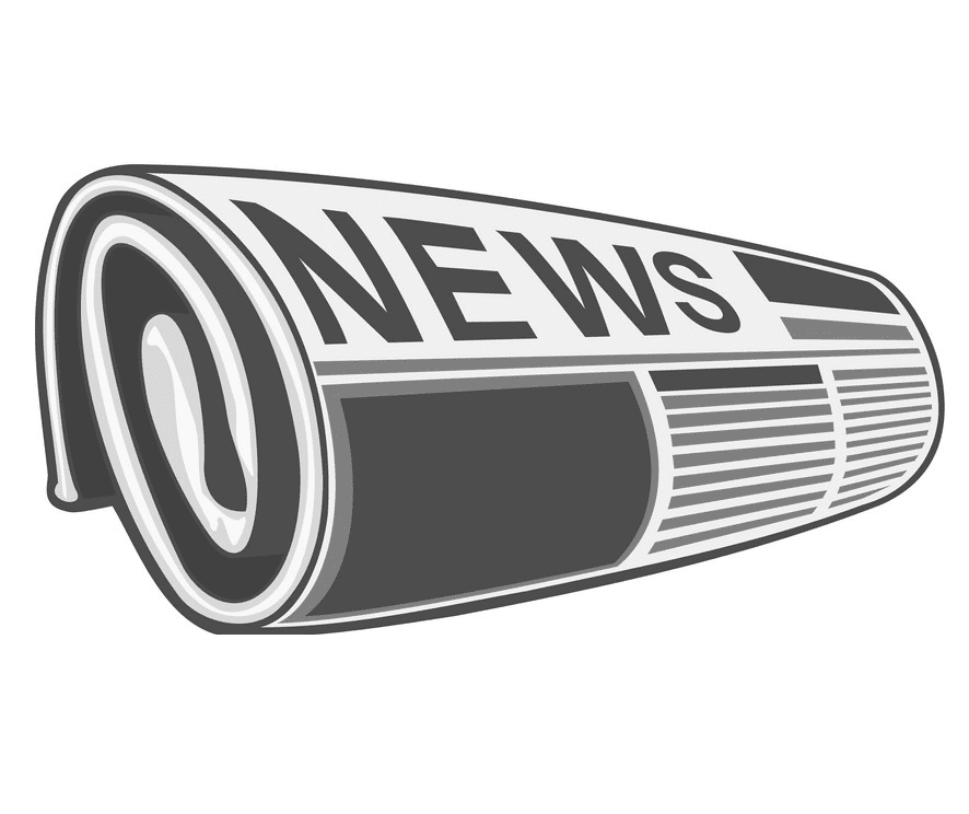 Rolled Newspaper clipart image