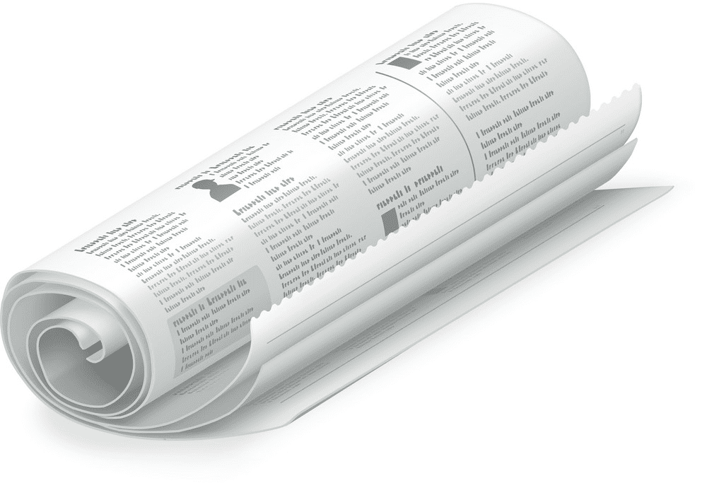 Rolled Newspaper clipart images