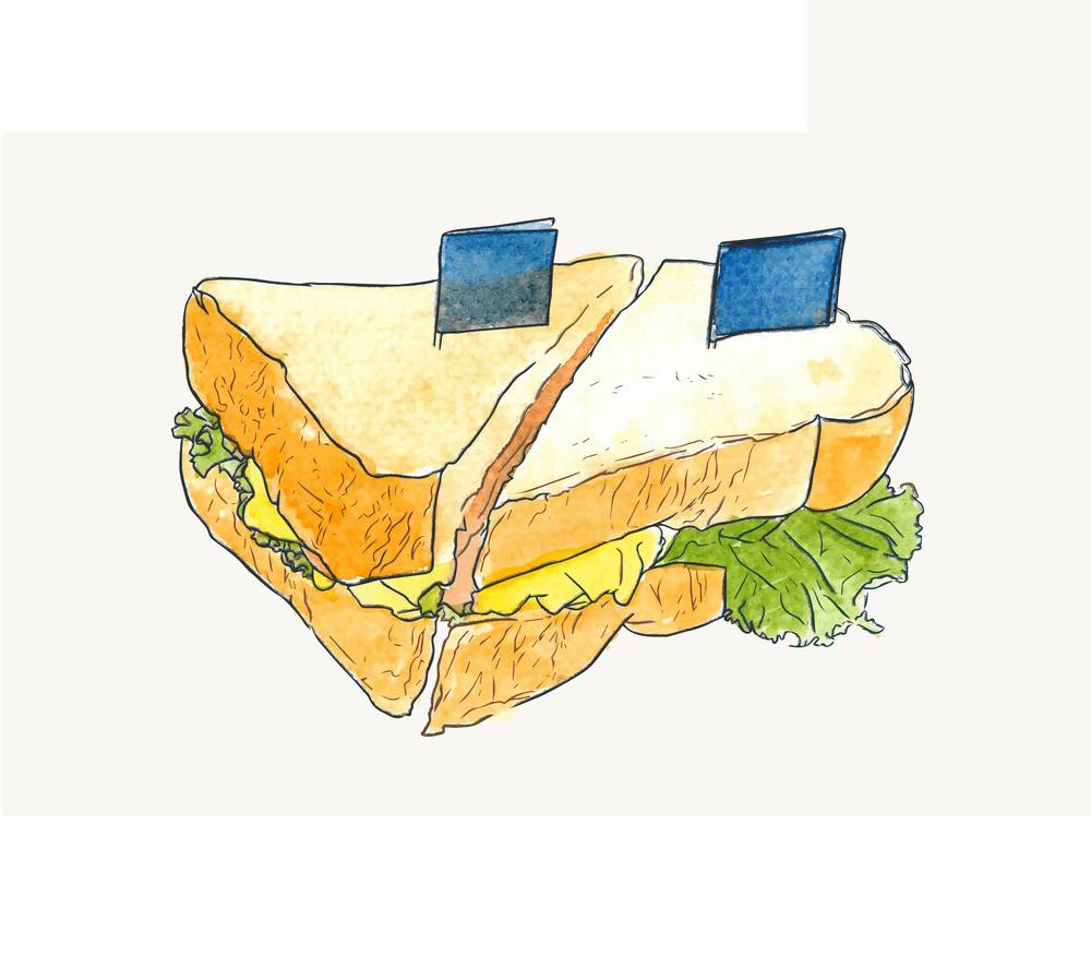 Salad Sandwich clipart