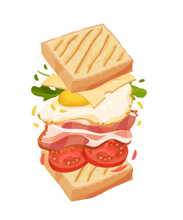 Sandwich clipart 6