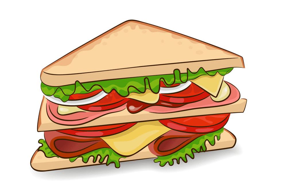 Sandwich clipart 7