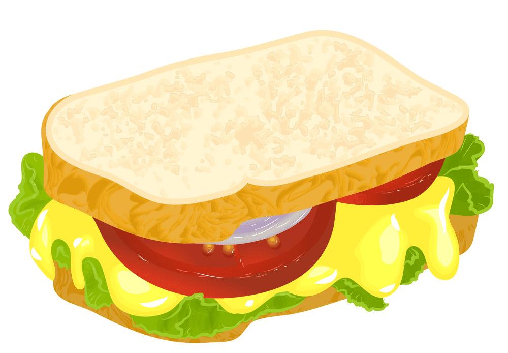 Sandwich clipart for kid