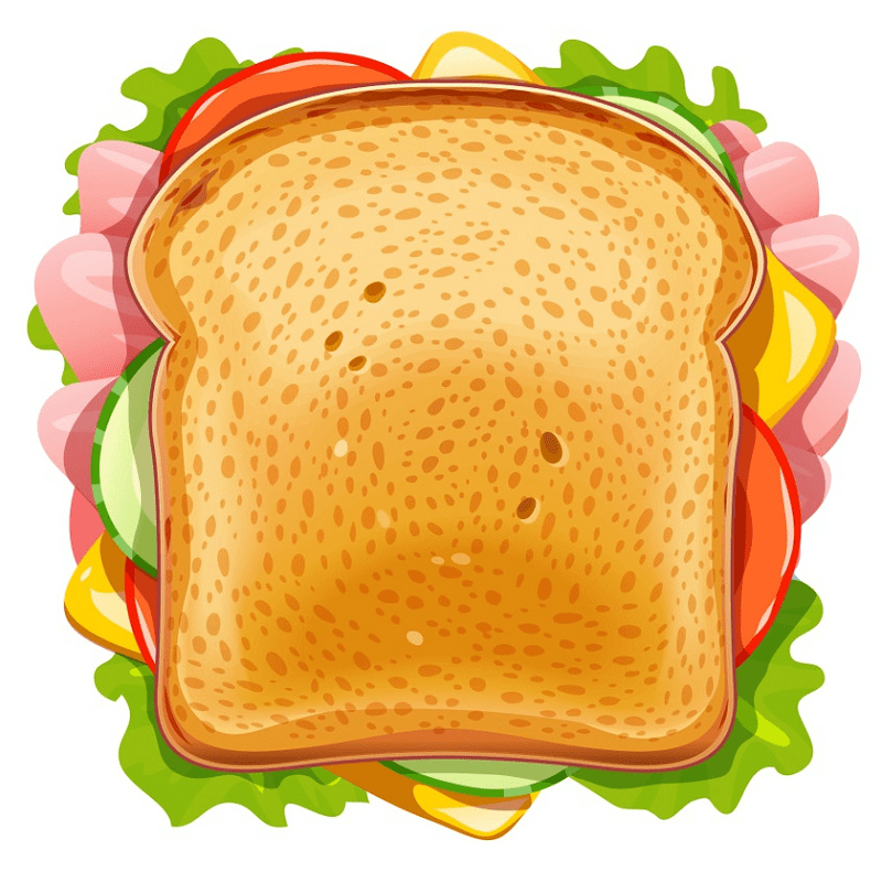 Sandwich clipart free for kid