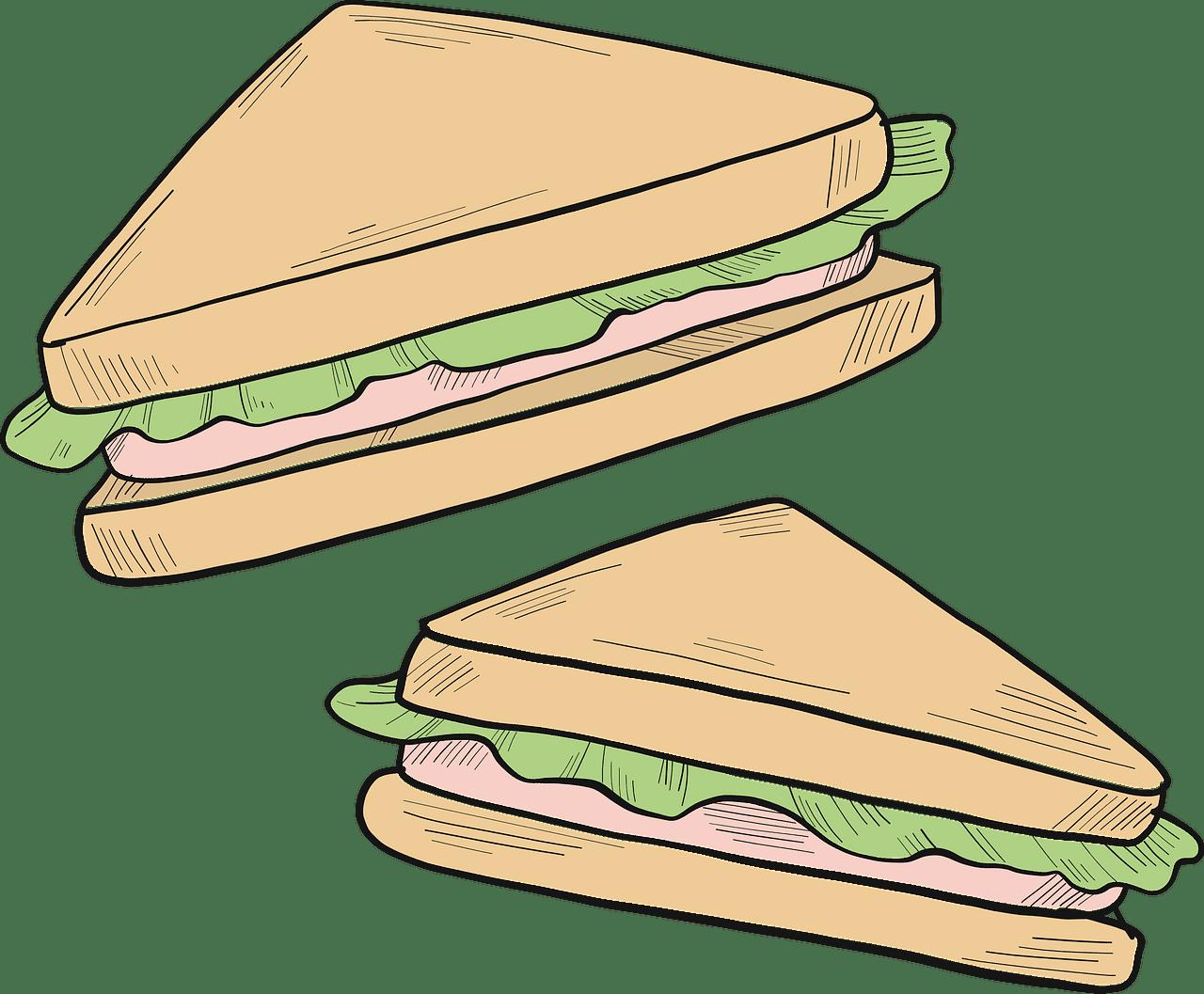 Sandwich clipart transparent 11
