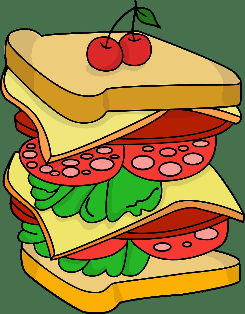 Sandwich clipart transparent background 2