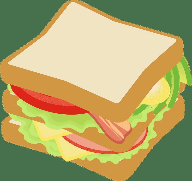 Sandwich clipart transparent background 8
