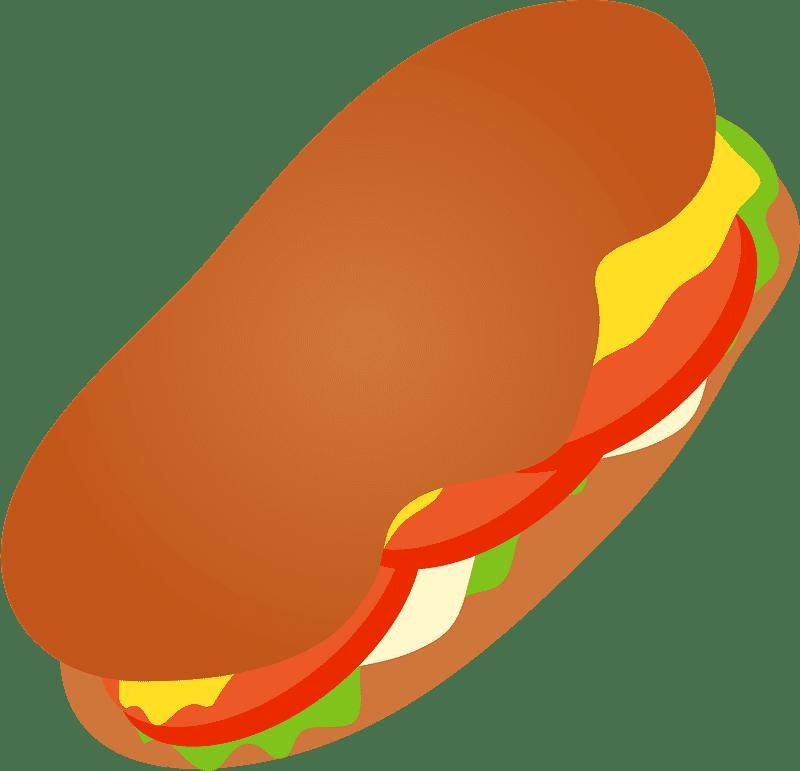 Sandwich clipart transparent background