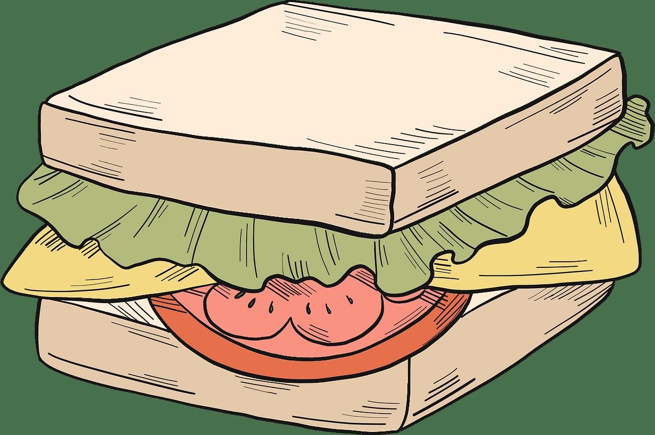 Sandwich clipart transparent image