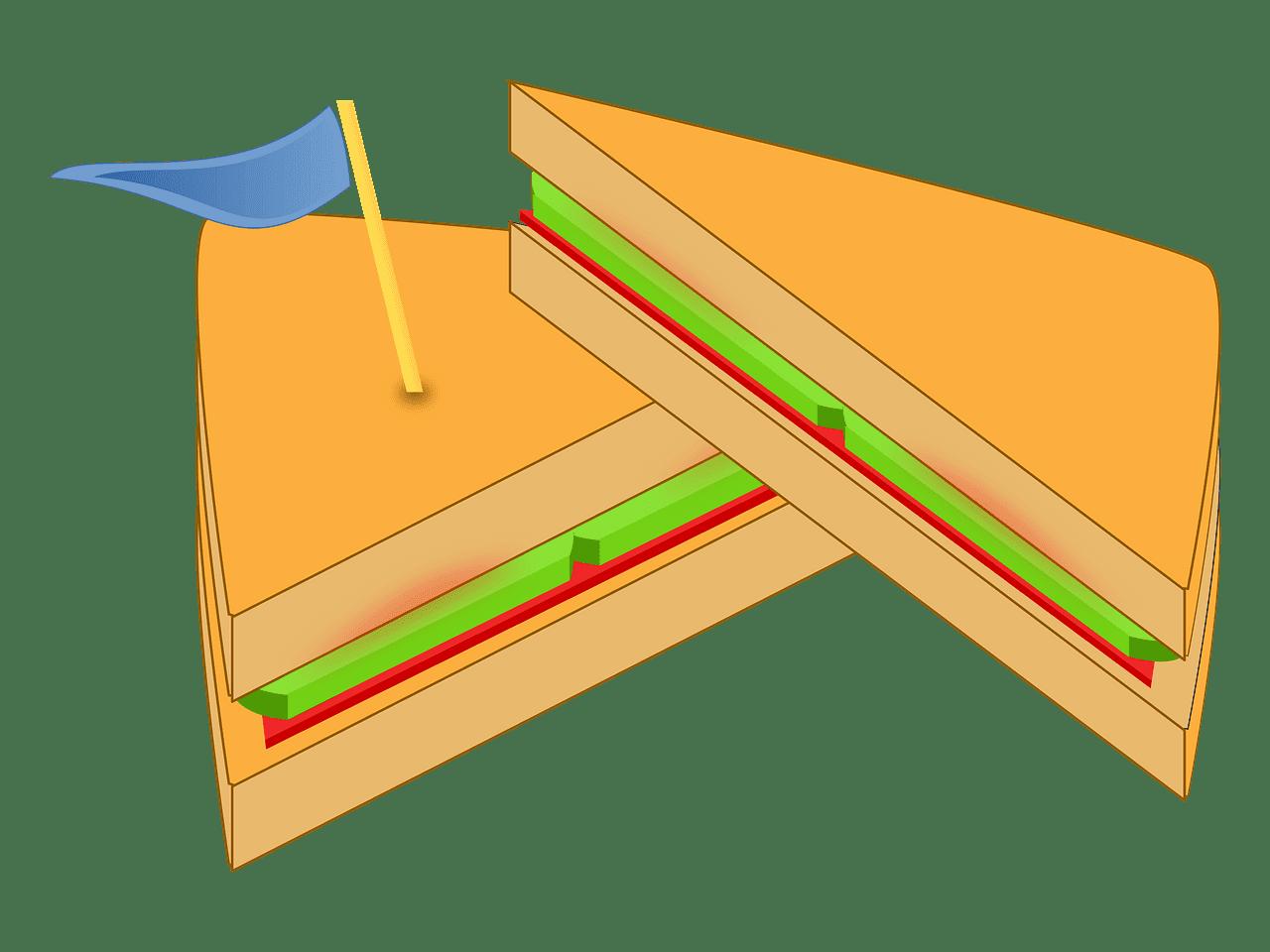 Sandwich clipart transparent